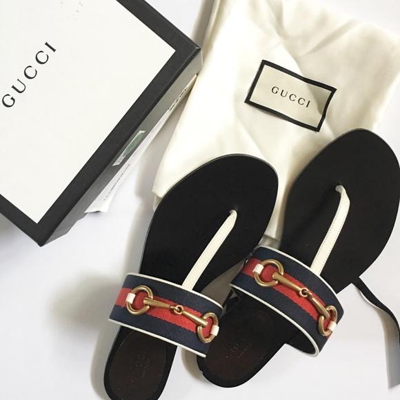 55bac4dd5906 Gucci Shoes - Gucci Querelle Thong sandal Sz 38.5